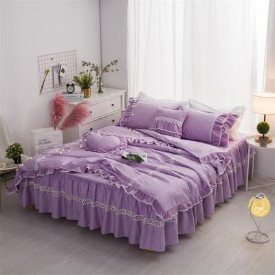 全棉单层四件套 梦幻女神 1.2m床 梦幻女神-紫