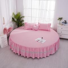 全棉圆床床裙 直径2米 粉色床裙