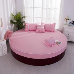 全棉圆床床笠 直径2米 粉色圆床笠