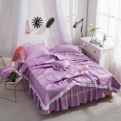 全棉夏被 180x220cm 紫色