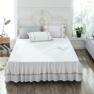 2019新款  玫瑰蜜语-床裙 150cmx200cm 白