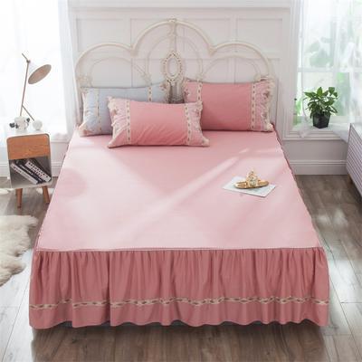 2019新款  玫瑰蜜语-床裙 150cmx200cm 豆沙