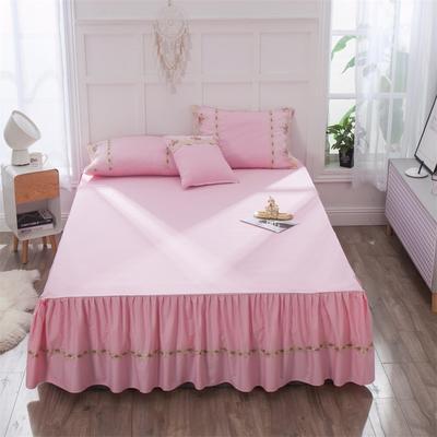 2019新款  玫瑰蜜语-床裙 150cmx200cm 粉
