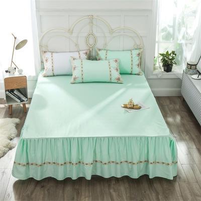 2019新款  玫瑰蜜语-床裙 150cmx200cm 绿