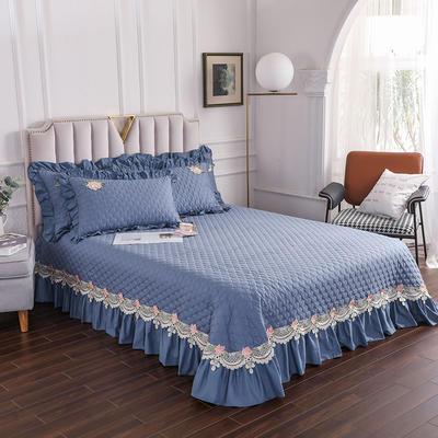 2020新款贵族单品床盖系列 床盖180*230cm【需定做】 藏蓝