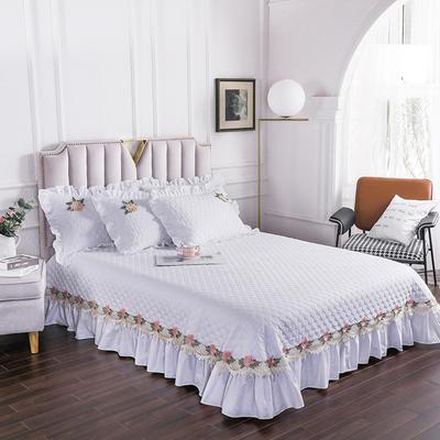 2020新款贵族单品床盖系列 床盖180*230cm【需定做】 珍珠白