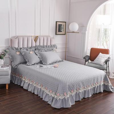 2020新款贵族单品床盖系列 床盖180*230cm【需定做】 银灰