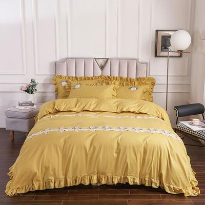 2020新款贵族床盖四件套系列 1.5m床盖四件套 古金色