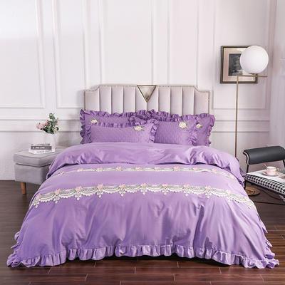 2020新款贵族床盖四件套系列 1.5m床盖四件套 紫色