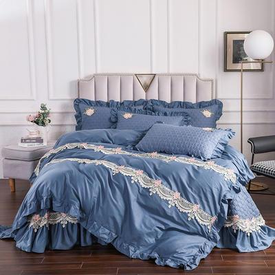 2020新款贵族床盖四件套系列 1.5m床盖四件套 藏蓝