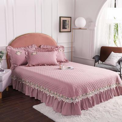 2020新款贵族单品床盖系列 床盖180*230cm【需定做】 豆沙