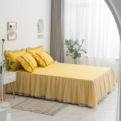 2020新款蝴蝶结单品床裙 150*200cm单床裙 薰衣草-黄