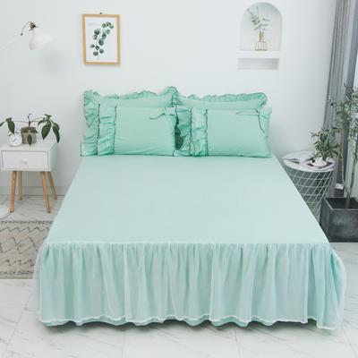 2020新款蝴蝶结单品床裙 150*200cm单床裙 薰衣草-果绿