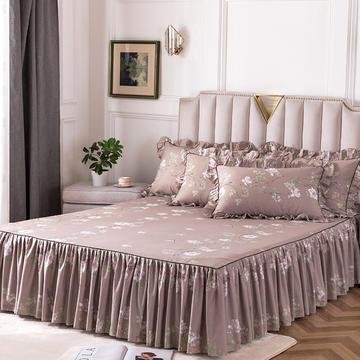 2020新款全棉13372印花床裙系列单床裙