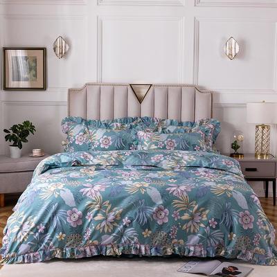 2020新款全棉13372印花床裙系列四件套 1.2m床裙款三件套 沉香丽影