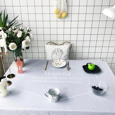 2018新款网红居家棉麻餐桌布 140*140cm hopleful