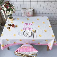 2018新款网红居家棉麻餐桌布 140*100cm pink