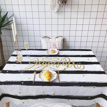 2018新款网红居家棉麻餐桌布