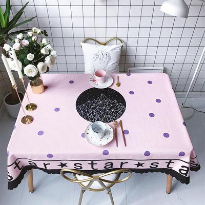 2018新款网红居家棉麻餐桌布 140*100cm 星球