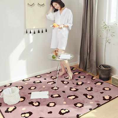 2018新款牛奶绒系列豹纹款爬爬垫地垫 45cm×75cm 咖豹纹