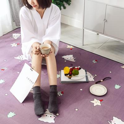 2018新款牛奶绒系列圣诞款爬爬垫地垫 45cm×75cm 圣诞精灵