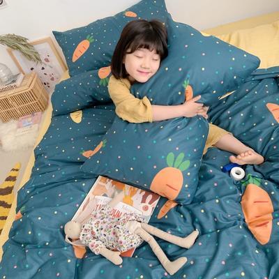 2019新款13070(40支)纯棉套件四件套 1.2m(4英尺)床(三件套) 胡萝卜