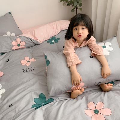 2019新款13070(40支)纯棉套件最新微信发红包群号 1.2m(4英尺)床(三件套) 花儿朵朵