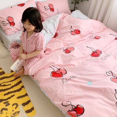2019新款13070(40支)纯棉套件四件套 1.8m(6英尺)床 樱桃