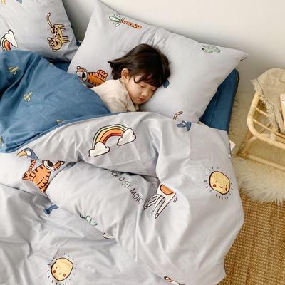 2019新款13070(40支)纯棉套件四件套 1.2m(4英尺)床(三件套) 趣味动物