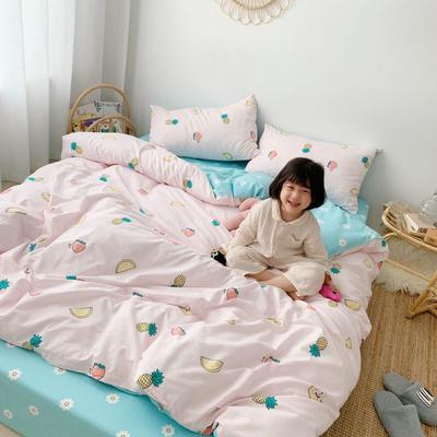 2019新款13070(40支)纯棉套件四件套 1.2m(4英尺)床(三件套) 水果派