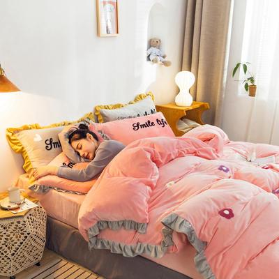 2019新款ins宝宝绒套件(棚拍图) 1.5m(5英尺)床 泫雅花粉