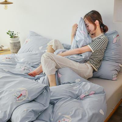 2019新款玻尿酸针织棉套件 1.2m床单款三件套 小飞象