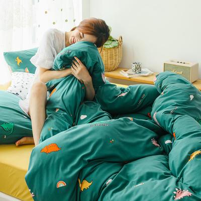 2019新款玻尿酸针织棉套件 1.5m-1.8m床单款 小恐龙
