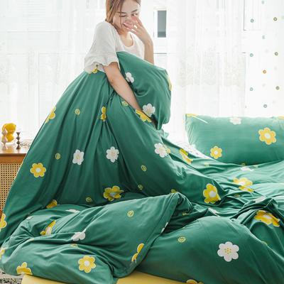 2019新款玻尿酸针织棉套件 1.5m-1.8m床单款 泫雅花