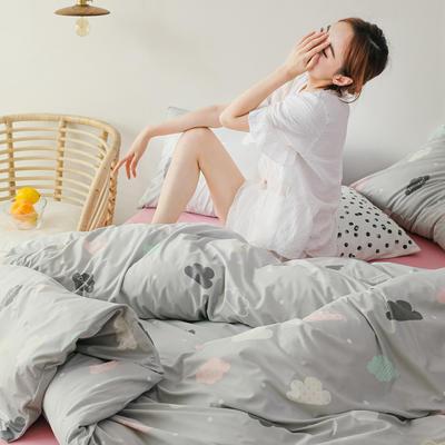 2019新款玻尿酸针织棉套件 1.2m床单款三件套 云朵