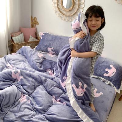 2019新款Chic少女花边牛奶绒套件-实拍图 1.5m床单款 梦幻皇冠