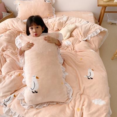 2019新款Chic少女花边牛奶绒套件-实拍图 1.5m床单款 童趣