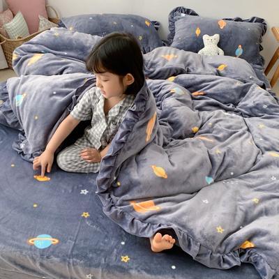 2019新款Chic少女花边牛奶绒套件-实拍图 1.5m床单款 小宇宙