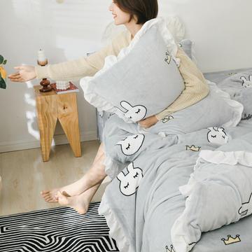 2019新款Chic少女花边牛奶绒套件-影棚图