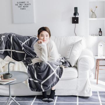 2019新款Chic羊羔绒毯-实拍图