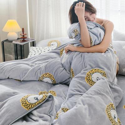2019新款牛奶绒小包边套件-影棚图 1.2m床单款三件套 北欧狮子