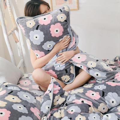 2019新款牛奶绒小包边套件-影棚图 1.5m床单款 彩色小花