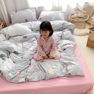 2019新款玻尿酸针织棉四套件(小模特图) 1.2m床单款三件套 云朵