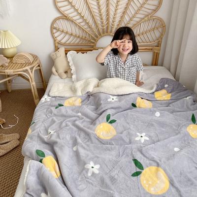 2019新款羊羔绒(模特图) 150*200 清新橘子