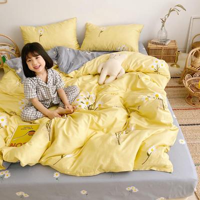2019新款ins网红纯棉套件四件套 1.5m(5英尺)床单款 雏菊黄