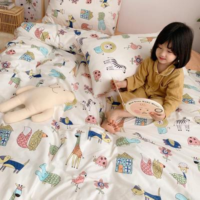 2019新款ins网红纯棉套件四件套 1.8m(6英尺)床单款 动物世界
