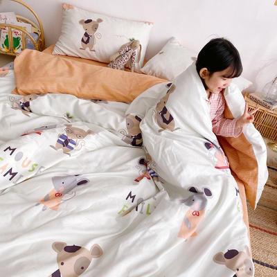 2019新款ins网红纯棉套件四件套 1.5m(5英尺)床单款 可爱小鼠