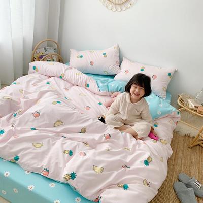 2019新款ins网红纯棉套件四件套 1.2m(4英尺)床单款三件套 水果派