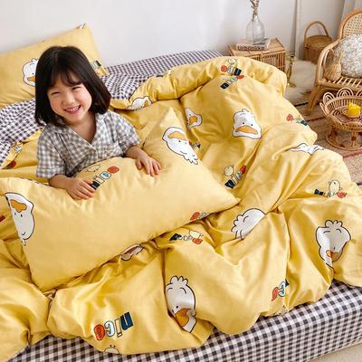 2019新款ins网红纯棉套件四件套 1.5m(5英尺)床单款 小黄鸭