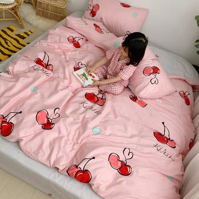 2019新款ins网红纯棉套件四件套 1.5m(5英尺)床单款 樱桃